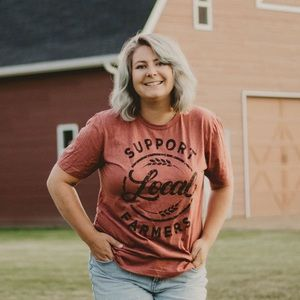Tops - Support Local Farmers Crew Tee || Last Two